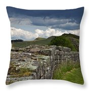 Roman Wall Country Throw Pillow