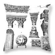 Romanesque Ornament Throw Pillow