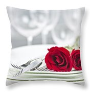 Romantic Dinner Setting Throw Pillow
