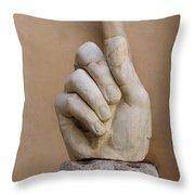 Rome Italy. Capitoline Museums Emperor Marco Aurelio Throw Pillow