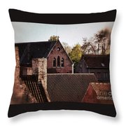 Roof Tops Throw Pillow