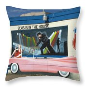 Route 66 Elvis Throw Pillow