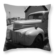 Route 66 Truck And Gas Station Throw Pillow