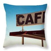Roy's Cafe Throw Pillow