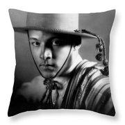 Rudolph Valentino Throw Pillow