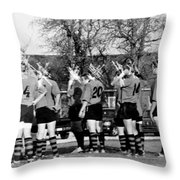 Rugby Distortion Throw Pillow by Michael Ringwalt