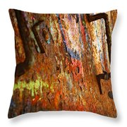 Rust Background Throw Pillow