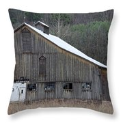 Rustic Weathered Mountainside Cupola Barn Throw Pillow