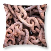Rusty Chains Throw Pillow