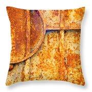 Rusty Gate Detail Throw Pillow