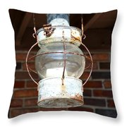 Rusty Lantern Throw Pillow