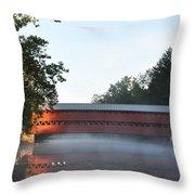 Sachs Covered Bridge  Near Gettysburg Throw Pillow