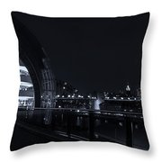 Sage Gateshead At Night Throw Pillow
