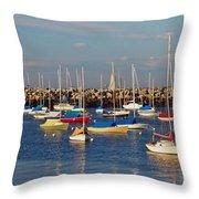 Sail Siesta Throw Pillow by Joann Vitali