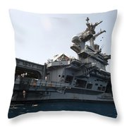 Sailors Jump To The Sea During A Swim Throw Pillow