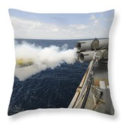 Sailors Observe A Mk-46 Recoverable Throw Pillow