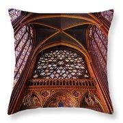 Saint Chapelle Throw Pillow