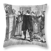 Salem Witch Trials, 1692 Throw Pillow by Granger