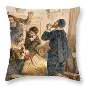 Salem Witchcraft, 1692 Throw Pillow