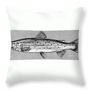 Salmon Throw Pillow by Granger