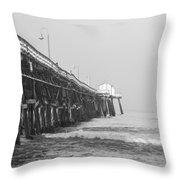 San Clemente Pier Throw Pillow by Ralf Kaiser