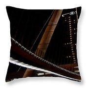 San Diego Lights At Night Throw Pillow
