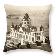 San Francisco Cliff House Throw Pillow