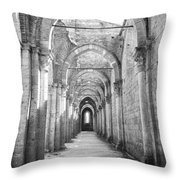 San Galgano Abbey Throw Pillow