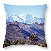 San Gorgonio Mountains Throw Pillow