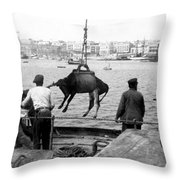 San Juan Harbor - Puerto Rico - C 1900 Throw Pillow