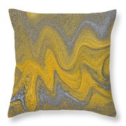 Sand Abstract Throw Pillow