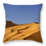 Sand Dune Against Clear Sky Throw Pillow