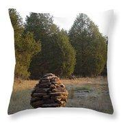 Sandstone Cairn Nature Art Sculpture Throw Pillow
