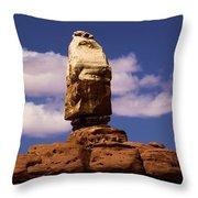 Santa Clause At Canyonlands National Park Throw Pillow