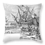 Santa Maria: Wreck, 1492 Throw Pillow by Granger