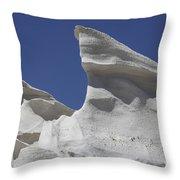 Sarakiniko White Tuff Formations Throw Pillow