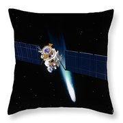 Satellite In Outer Space Throw Pillow