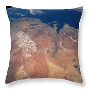 Satellite View Of Planet Earth Throw Pillow