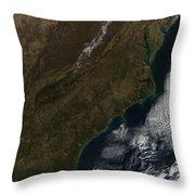 Satellite View Of The Southeastern Throw Pillow