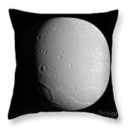 Saturns Moon Dione Throw Pillow
