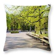 Saxon Garden In Warsaw Throw Pillow