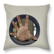 Scary Hand Throw Pillow