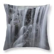 Scenic Waterfall In Borneo Rain Forest Throw Pillow