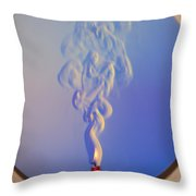 Schlieren Image Of A Candle Throw Pillow