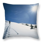 Scott Cooper Backcountry Skiing Throw Pillow