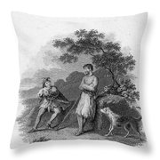 Scott: Ivanhoe, 1832 Throw Pillow