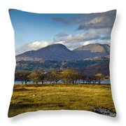 Scottish Landscape View Throw Pillow