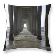 Scripps Pier La Jolla California 5 Throw Pillow