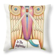 Scroll Angel - Ionica Throw Pillow