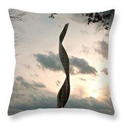 Sculpture At Our Lady Of The Snows Throw Pillow